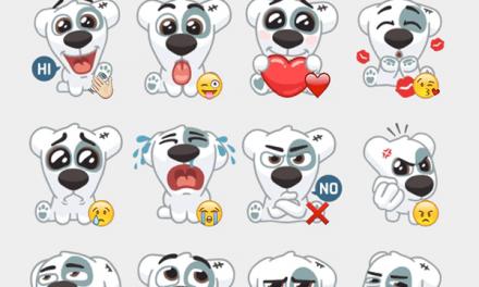 Dog sticker set