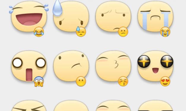 Facebook smiles sticker set