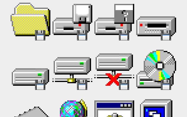 Windows 95 sticker set