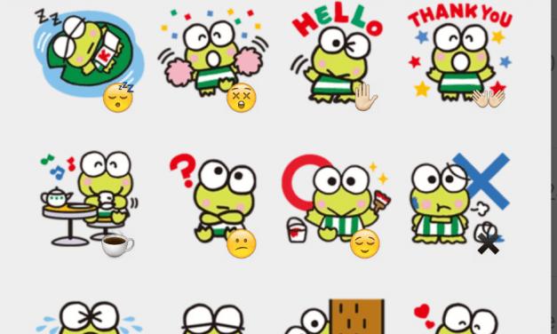 Keroppi sticker pack