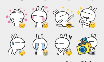 Tuziki rabbit sticker set