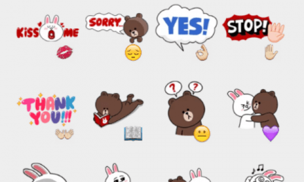 Brown & Cony sticker set