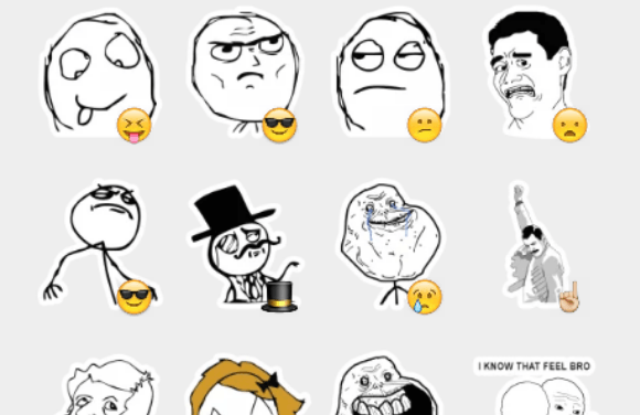 Rage meme sticker pack