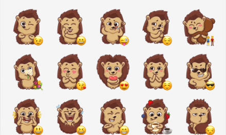 Hedgehog Shun sticker pack