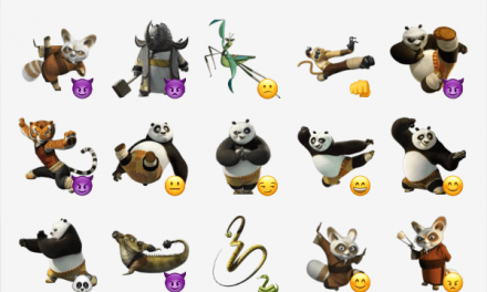 Kung fu Panda sticker pack