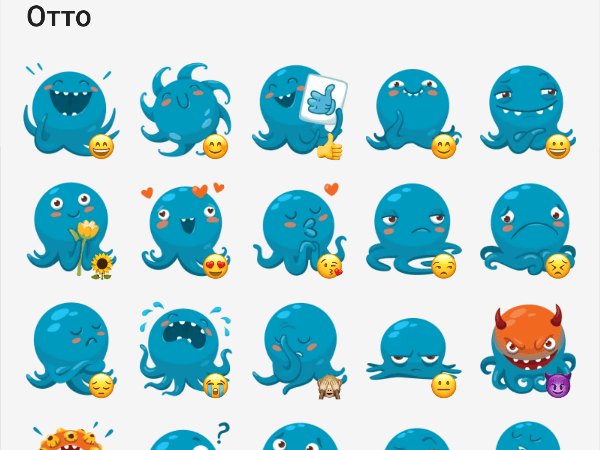 Otto the octopus sticker pack