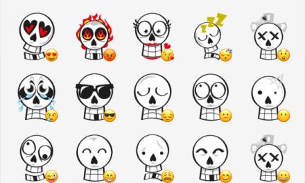 Skulls sticker set