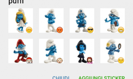 Smurfs sticker pack