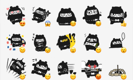 Ninja Bear sticker pack