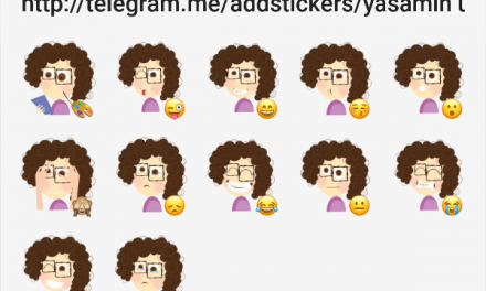 Yasamin Curly Hair sticker pack