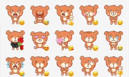 Bernard the bear sticker pack