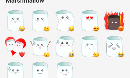Marshmallow sticker pack