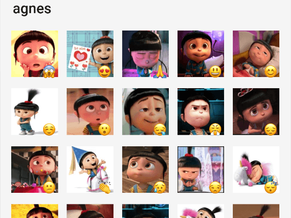 Agnes from despicable me sticker pack for telegram