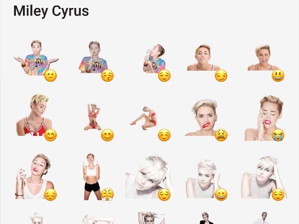 Miley Cirus telegram stickers