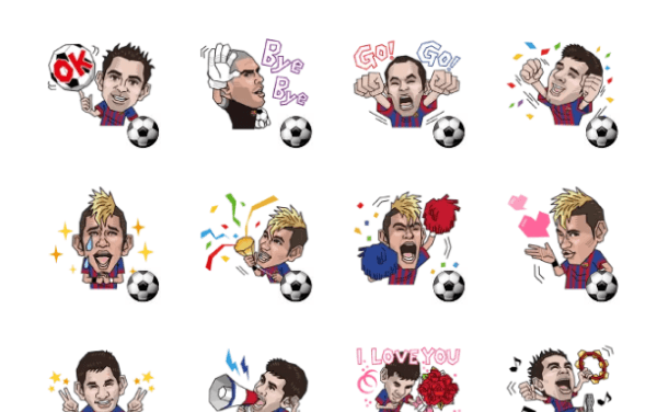 Barcelona sticker pack