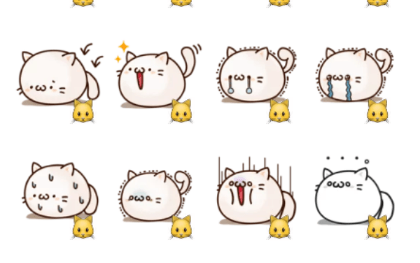 Round and Pretty Cat sticker pack