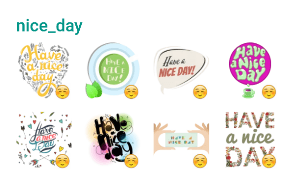 Nice Day Sticker Pack