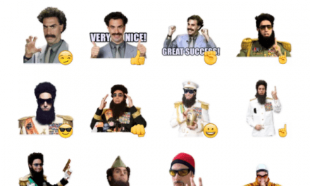 Sacha Baron Cohen Sticker Pack