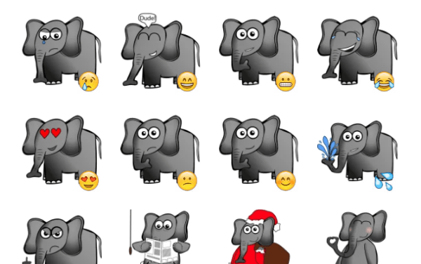 Elephant Sticker Pack
