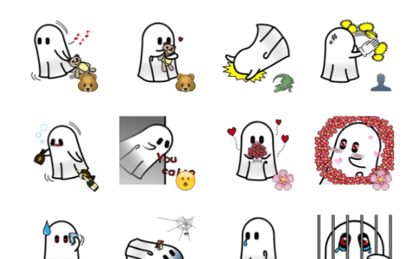 Ghost Buddy Sticker Pack