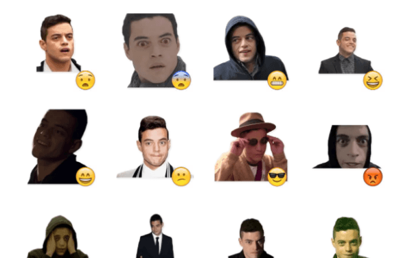 Rami Malek Sticker Pack