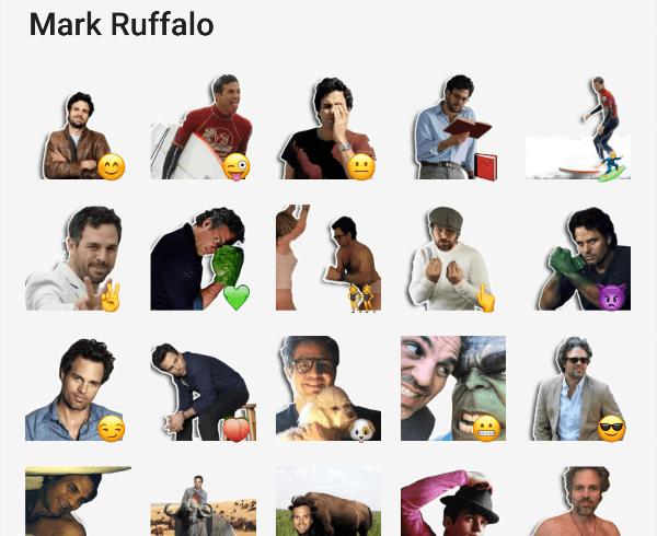 Mark Ruffalo Sticker Pack