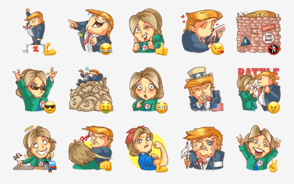 Clinton vs trump sticker pack