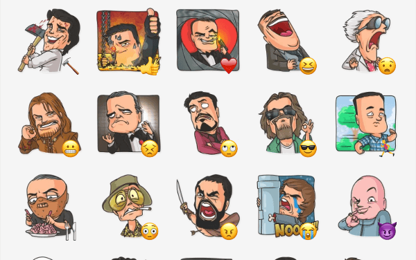 Cinema Male Heroes Sticker Pack
