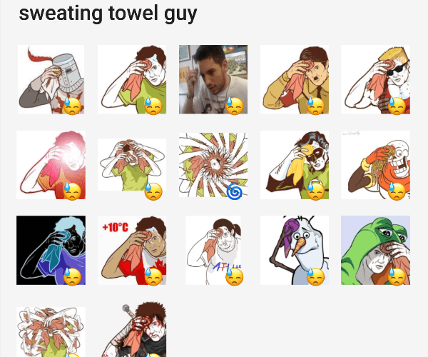 Game Day Sweat Towel: Collection Of Telegram Stickers