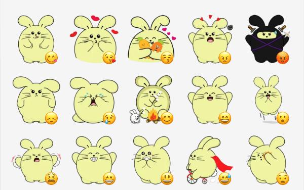 Fat Rabbit sticker pack