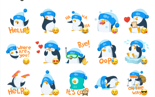 Penguin sticker pack
