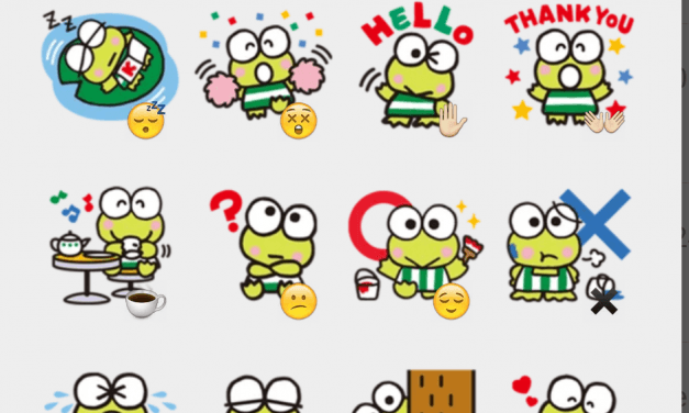 Keroppi sticker pack