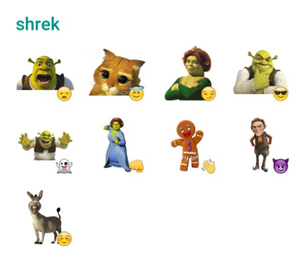 shrek sticker pack
