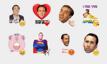 Nicholas Cage sticker set!