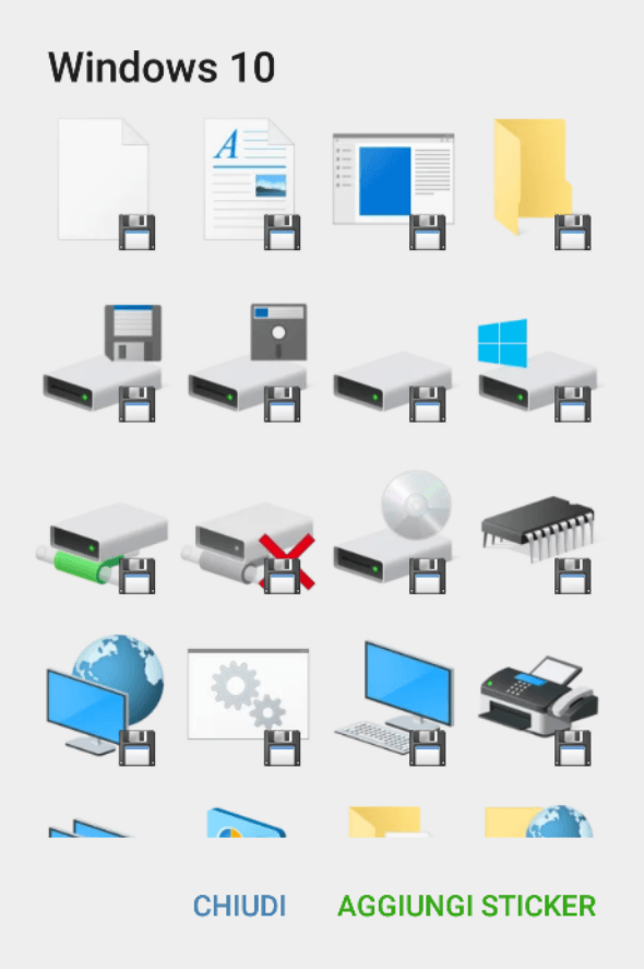 Windows 10 icon pack - Telegram Stickers Library