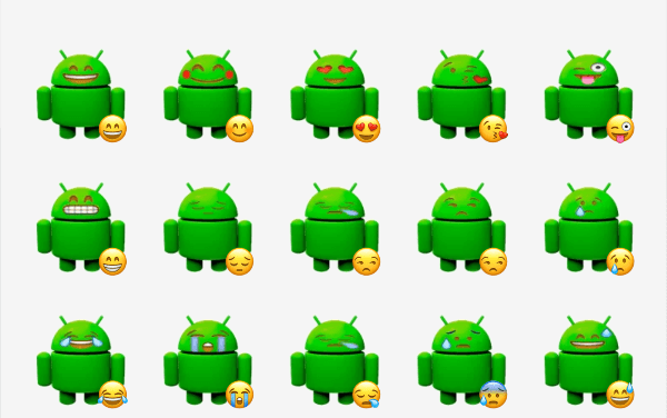 Android Emotions sticker pack