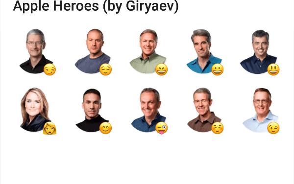 Apple heroes sticker pack