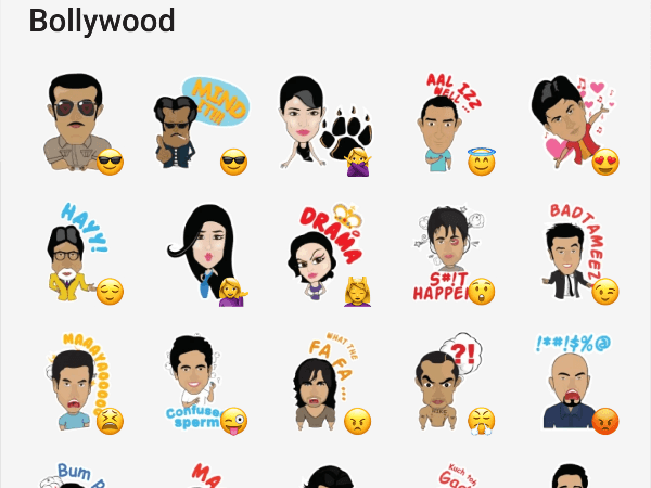 Bollywood stcker pack for telegram