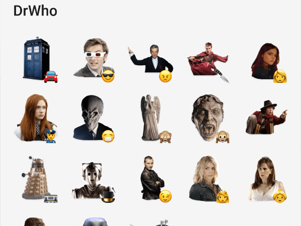 DrWho telegram stickers