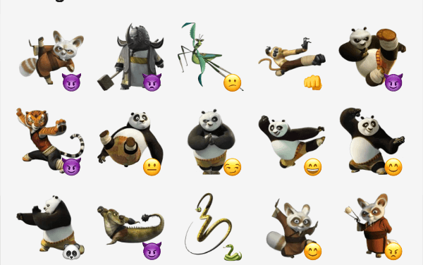 Kung fu Panda sticker pack