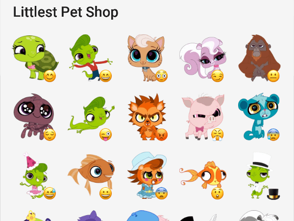 Little pet shop telegram stickers