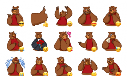 Mikhail the bear sticker pack