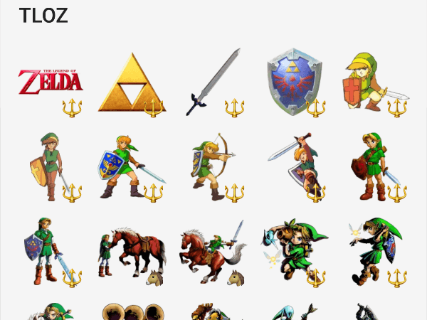 the legend of zelda sticker pack