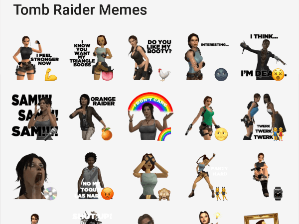 Tomb Raider Memes stickers