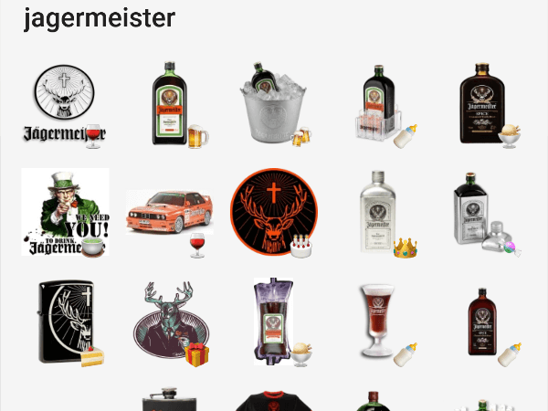 Telegram jagermeister sticker pack
