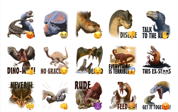 Dino sticker set