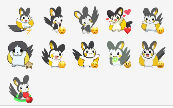 Emolga ( Pokémon ) sticker pack