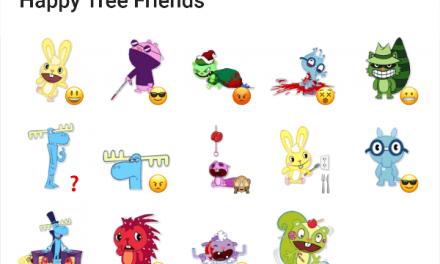 Happy three friends sticker pack