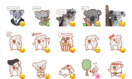 Koala sticker set