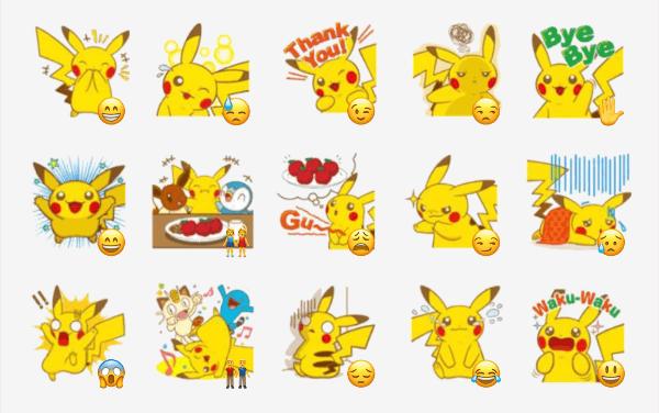 Pikachu sticker pack
